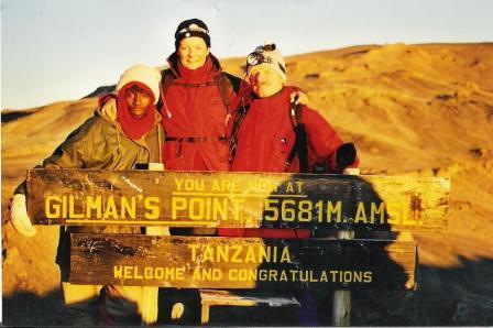 5.45 Uhr Gilmanspoint - noch 75min bis zum Gipfel