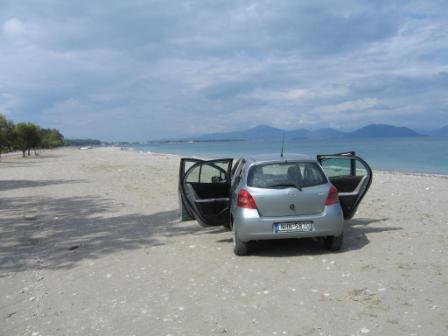 Einsamer Strand auf Euböba